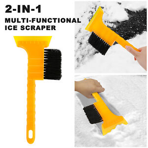 2-in-1 Ice Scraper Brush Car Windshield Snow Removal Frost Broom Extendable Tool