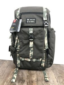 Under Armour UA Project Rock USDNA Regiment Range Backpack 1315435 001 Grey Camo $149.95