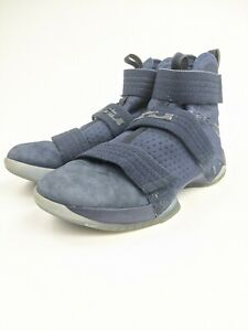 Nike Blue Suede Lebron Soldier 10 SFG Sneakers 844378 444 Men Size 11 $54.99
