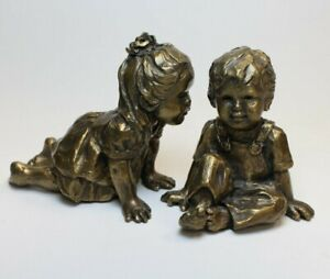 CORINNE HARTLEY FIRST KISS PAIR BRONZE SCULPTURES 1996 LIMITED EDITION #19 OF 95 $799.00