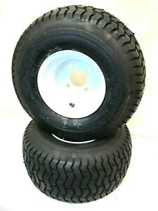 TWO- (2) 18x8.50-8 Wheel+Tires Lawn Tractor Golf Cart 4 Lug 18 8.50 8 18 850 8