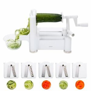 Vegetable Fruit Slicer 5 Blade Veggie Pasta Spaghetti Maker Cutter Chopper WW
