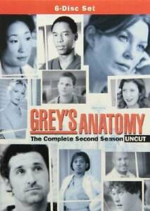 Grey#x27;s Anatomy: Season 2 Uncut DVD VERY GOOD