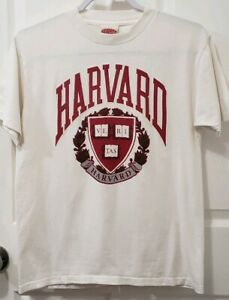 Harvard Veritas NutMeg Athletic Dept T Shirt Vintage Style 1952 Made In USA