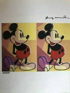 Andy Warhol *Mickey Mouse* Original Hand Signed Print from1986 with Certificate