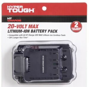 Brand New HYPER TOUGH HT CHARGE 20-VOLT 2.0-Amp MAX LITHIUM- ION BATTERY PACK