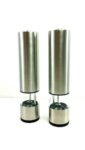 Electric Salt And Pepper Mill Grinder Battery Operated Stainless Steel New