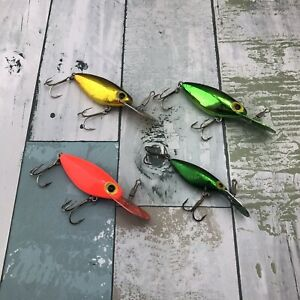 Lot Of 4 Storm Pre Rapala ThinFin Hot'N Tot Fishing Lures Crankbaits Asstd Color