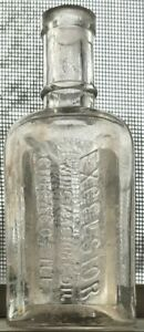 NEAT 3 SIDED EXCELSIOR SEWING MACHINE OIL BOTTLE CHICAGO ILLINOIS 1890S FREESHIP $23.00