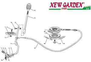 Clutch Exploded View Lama Mower Lawn Mower EL63 XE70 Castelgarden 2012-13 Parts