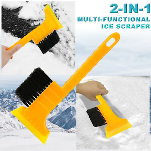 Car Vehicle Ice Scraper Snow Remover Frost Brush Broom Cleaner Window Windshield