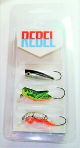 REBEL LURES MICRO CRITTER 3-PACK ULTRALIGHT KIT TROUT CRAPPIE BASS PK3MICRO1