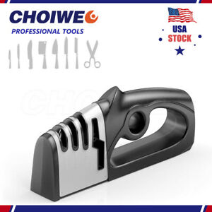 Premium Quality Knife Sharpener for Straight and Serrated Knives Stainless Steel