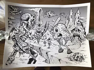 Buff Monster x L'Amour Supreme Number Of The Beast Print Lithograph Signed LE