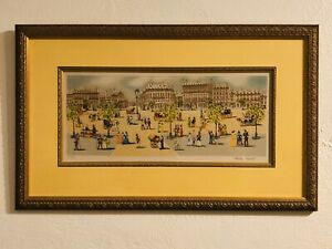 CLAUDE TABET Original Lithograph FRAMED Signed amp; Numbered With COA $125.00