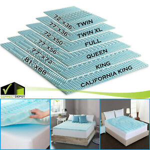 6 Sizes Orthopedic Mattress Topper Bed Pad 5 Zone Authentic Comfort 2 Inch Foam