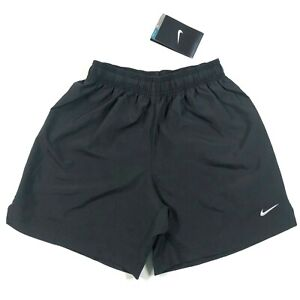 Nike Dri Fit Boys Youth S Solid Black Lightweight Gym Workout Soccer Shorts NWT $15.00