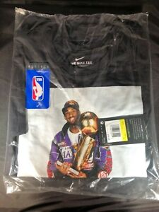 NIKE DRI FIT LAKERS KOBE BRYANT GOAT RETIREMENT TROPHY PHOTO T SHIRT TEE SMALL $249.99