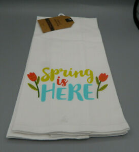 Mabelle Home Collection 15quot; x 25quot; Kitchen Towel Spring is Here