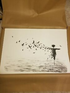 Pejac Scattercrow Hand Pulled Stone Lithograph Art Print Edition of 80 $3800.00