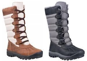 Timberland Woman#x27;s Mt. Hayes Tall Waterproof Boots White Brown Black Gray