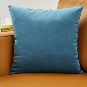 Set Of 2 Throw Pillow Case Cover Cushion Case 20quot; x 20quot; solid colors