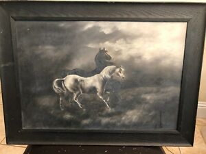 Antique Oil On Canvas Painting Unsigned $139.95