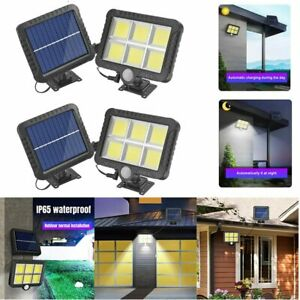 1500LM 120LED COB Solar Wall Lights Motion Sensor Outdoor Garden Security Lamp