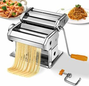 Pasta Maker Stainless Steel Roller Machine for Fresh Noodle Spaghetti Fettuccine