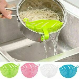 4x Rice Wash Sieve Beans Peas Cleaning Leaf Shape Kitchen Clips Gadgets Tools