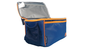 Fit and Fresh Insulated Lunch Bag box tote NWT Neon Orange Navy Blue