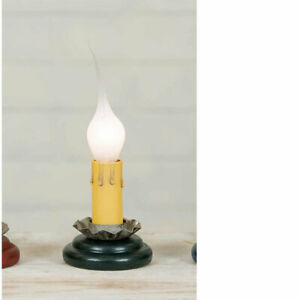 Country GREEN BASE ELECTRIC WINDOW CANDLE Christmas 2 inch Charming Light Bulb
