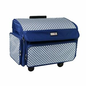 Everything Mary 360° Rolling Sewing Case 4 Wheeled Sewing Machine Trolley Bag $265.55