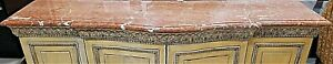 Huge Vintage 83quot; Italian Marble Credenza Entry Sofa Table TOP ONLY $799.00