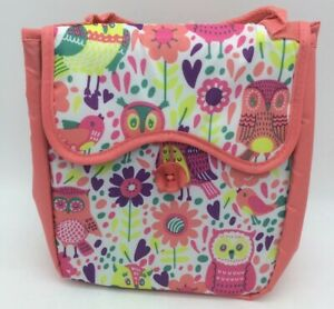 NWT Fit & Fresh Caitlin Chiller Insulated Lunch Tote/Bag Peach Hoot Garden. (AC)