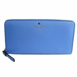 Kate Spade Lacey Mikas Pond Leather Wallet Delphinium 505