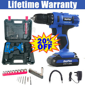 2-Speed Electric Cordless Drill Portable Mini Screwdriver / Lithium-Ion Battery