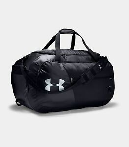 UNDER ARMOUR Duffle Bag Undeniable 4.0 XL Black Silver NEW UA $65 $49.94