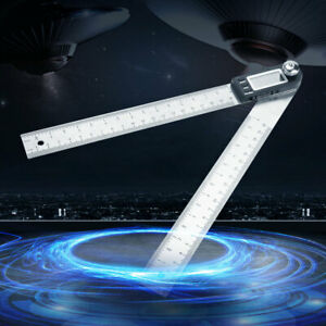 200MM Stainless Steel Electronic LCD Digital Protractor Goniometer Angle Finder $24.40