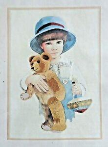 Vintage Kit Needle Treasures Crewel Embroidery by Jan Hagara JIMMY 10quot; x 14quot; $5.00