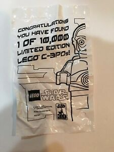 LEGO STAR WARS CHROME GOLD C-3PO 4521221 1 OF 10000 LTD MINT NEW SEALED!