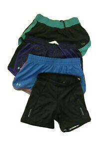 LOTS OF 4 SPORT GIRLS SHORTS. UNDER ARMOUR, CHAMPION, SUGOI SIZE XS $21.99