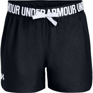 Under Armour 176598 Girls Lightweight Sport Shorts Black White Size Youth Large $27.20