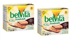 Belvita Breakfast Sandwich Dark Chocolate Creme 2 Box Pack