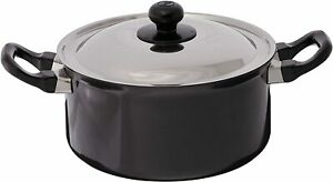 Futura Nonstick Induction Base Stewpot with Steel Lid, 3 L - Black