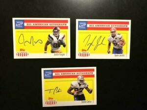 2003 TOPPS 3 ALL AMERICAN AUTOGRAPH W FARGASJACOBSCALICO Certified MINT $9.99