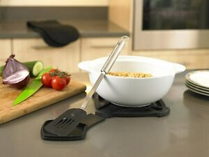 Heat-resistant Silicone Trivet With Pot Spoon Rest Anti-slip Dual-use