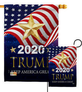 2020 Trump Keep America Great Garden Flag President Gift Small Yard House Banner