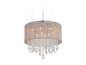 Avenue Lighting HF1502-TP Beverly Dr. 12 Light Taupe Silk String Dual Mount