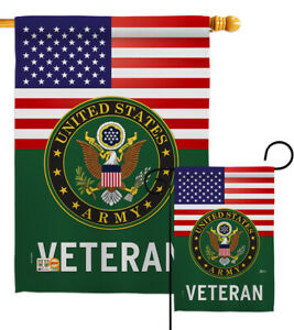 US Army Veteran Garden Flag Armed Forces Military Veteran Gift Yard Banner